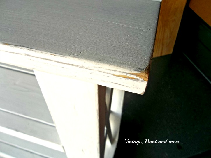 Vintage, Paint and more... beach inspired shelf unit distressed after painting with chalk paint