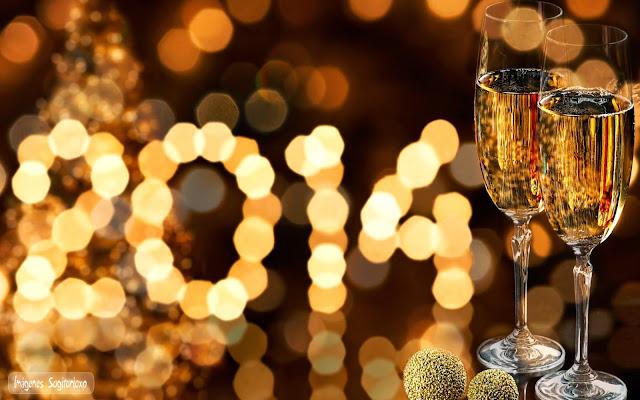 Brindis de año nuevo 2014 | Wallpaper | Copas, luces