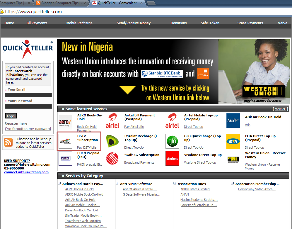 how to pay dstv online