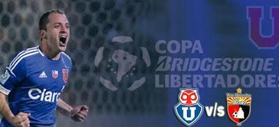 Partido Universidad de Chile vs Deportivo Lara en Vivo