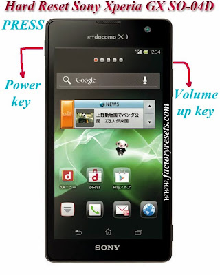How To Hard Reset Sony Xperia GX SO-04D by hardware buttons