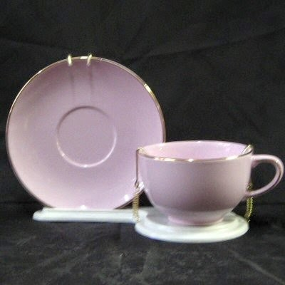 Lavender Teacup and Saucer