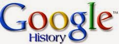Logotipo do Google History. Entenda o que é esse recurso.