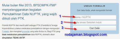Cara Mencari NUPTK 2013 dan Cara Download Formulir A01, A02, A03, A04