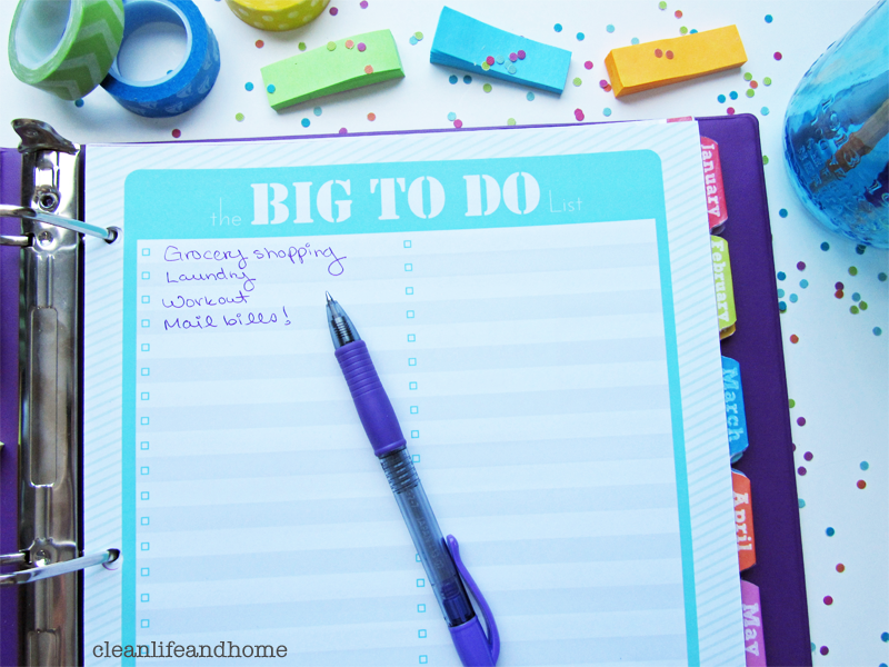 Clean Life And Home Freebie The Big To Do List
