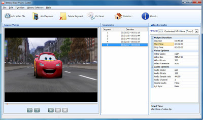 Weeny Free Video Cutter , Free Video Cutter, Video cutters, Video editing softwares, video editors, freewares , windows softwares, video splitters, video splitting softwares,