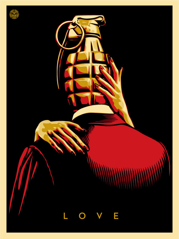"""Obey Giant """"Love Is The Drug"""" Red Edition Screen Print by Shepard ..."""