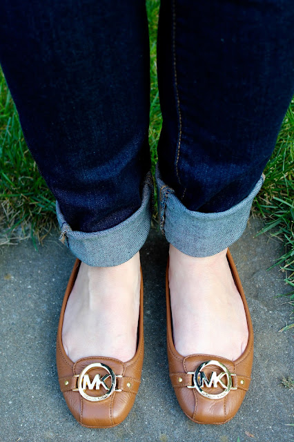 Jeans and Michael Kors Fulton Flats
