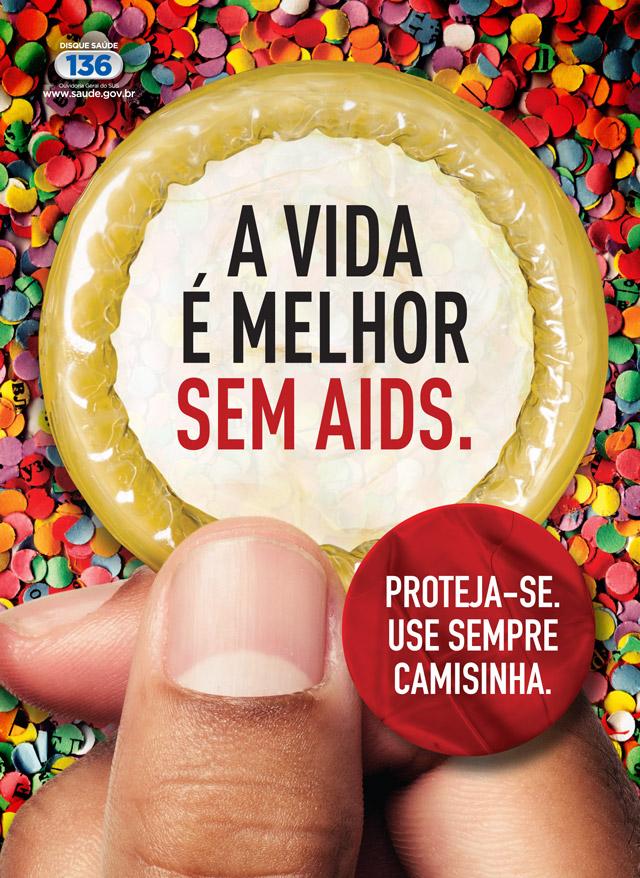 Cartaz da Campanha de Carnaval 2013. Foto: Ministério da Saúde / Divulgação