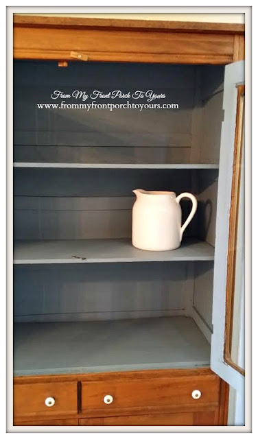 Vintage Pie Safe- French Blue- Treasure Hunt Thursday- From My Front Porch To Yours