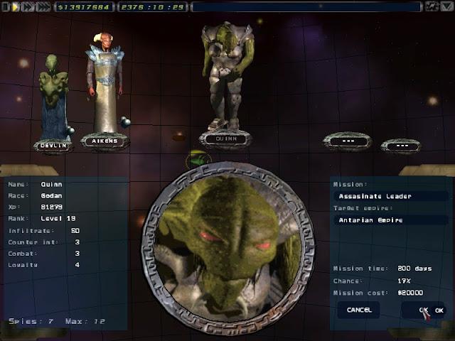 Imperium Galactica 2 - Espionage Description