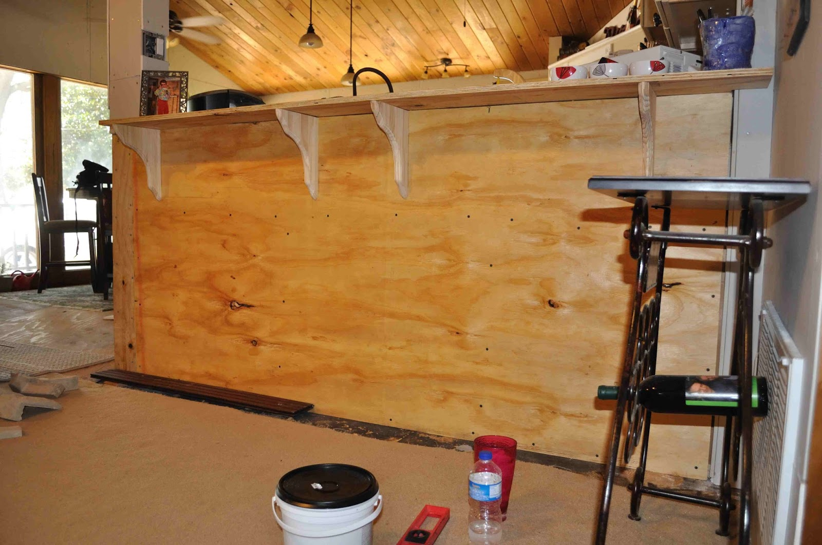once upon a cedar house building a kitchen bar