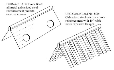 Two types of corner bead (Courtesy of U.S. Gypsum Co.)