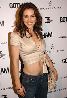 Alyssa Milano Lower Abdomen Tattoo Design
