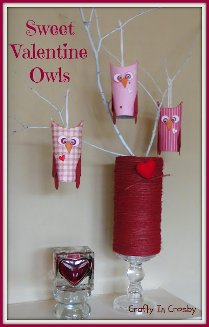 Valentine's Day, Paper Crafts, Owls