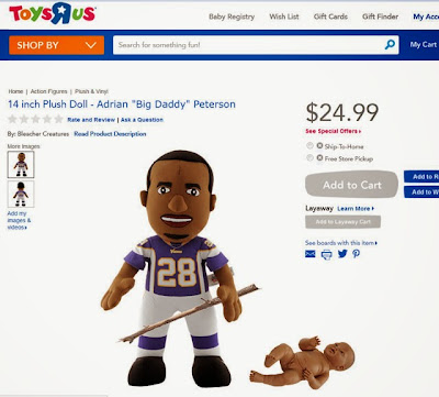 funny adrian peterson child abuse doll