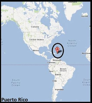 Mapa de Puerto Rico en América, Google Maps