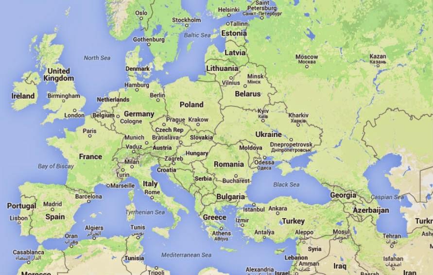 Viajes Por Europa Mapa