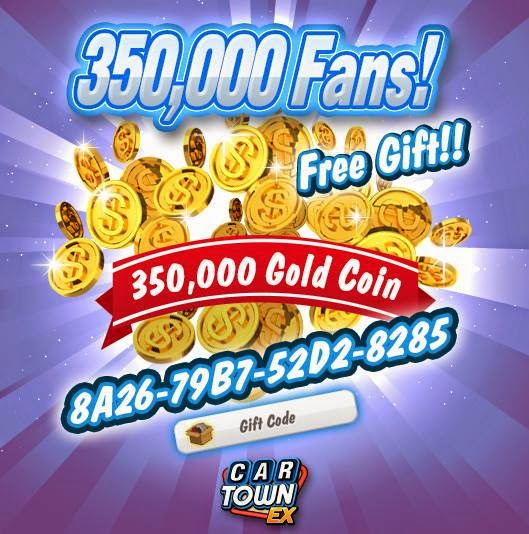 Car Town: Car Town EX Free Gift 350,000 CarTown Points