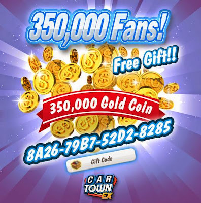 Car Town: Car Town EX Free Gift 350,000 CarTown Points