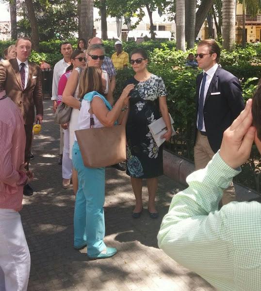 Crown Princess Victoria of Sweden and Prince Daniel arrived to Agencia Colombiana para la Reintegración (Agency for Reintegration) in Cartagena, Colombia.