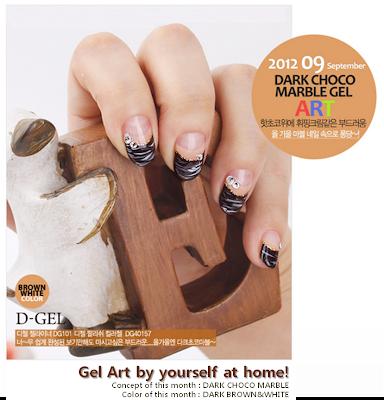 Dark Chocolate Marble Gel Nail Art, for this Autumn!