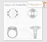 Sketch of Anniversary Ring to be Created