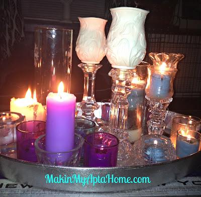 crystal fireplace MakinMyAptaHome 2