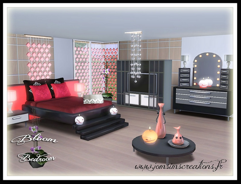 my sims 3 blog bloom bedroom set by jomsims