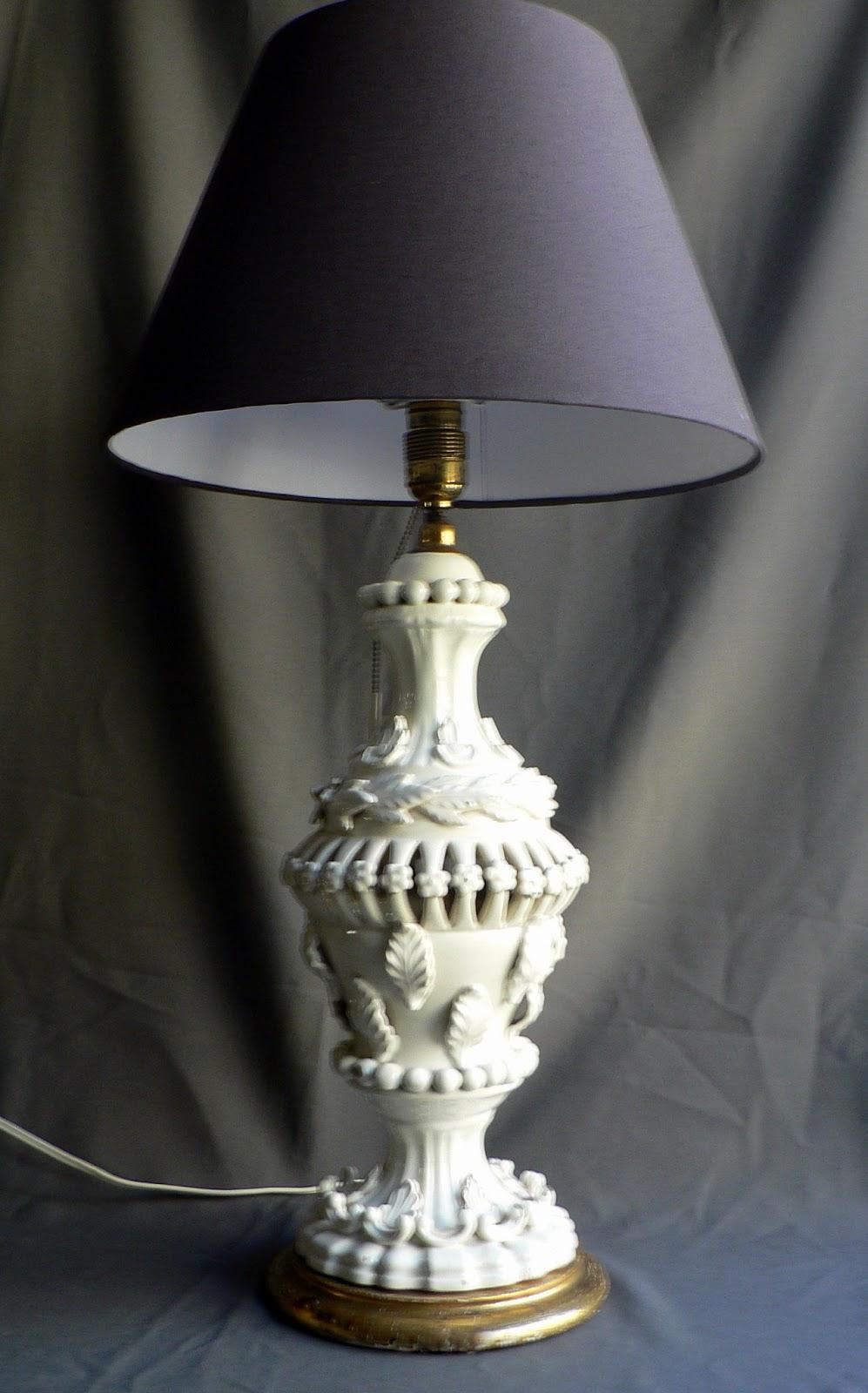 Vintage kitsch siglo xx lampara de cer mica de manises - Lamparas de ceramica ...