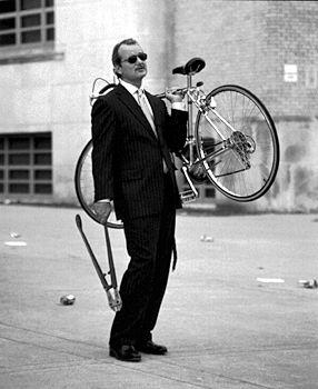 Bike Junkie Rides A Bike