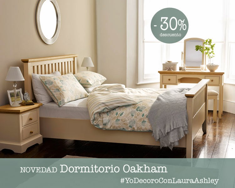 Dormitorio Oakham de Laura Ashley estilo rústico