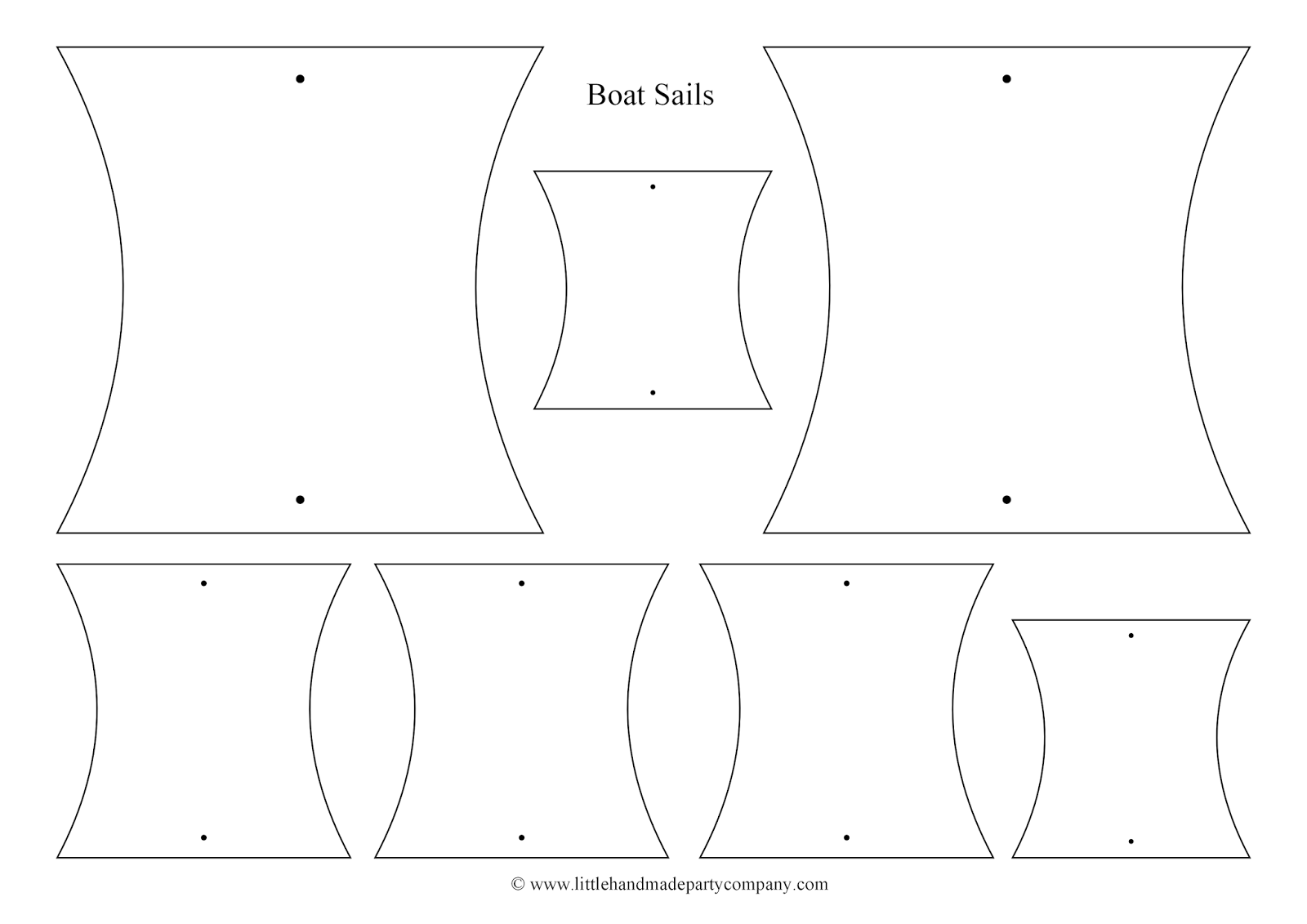 Little handmade party company printables for Pirate ship sails template