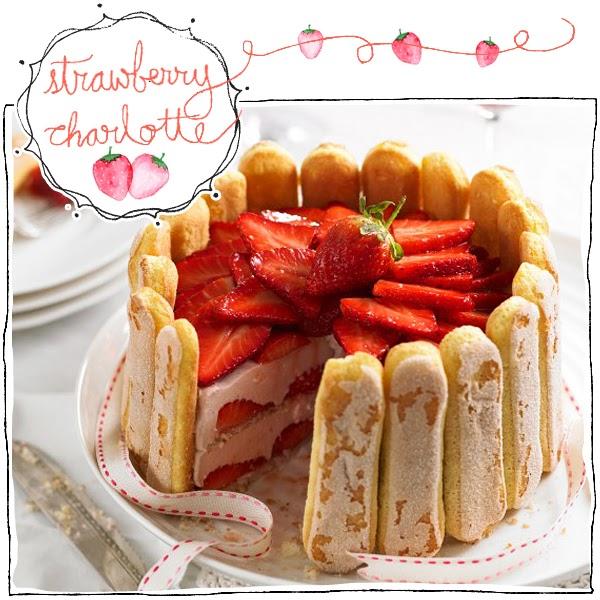 Strawberry Charlotte dessert