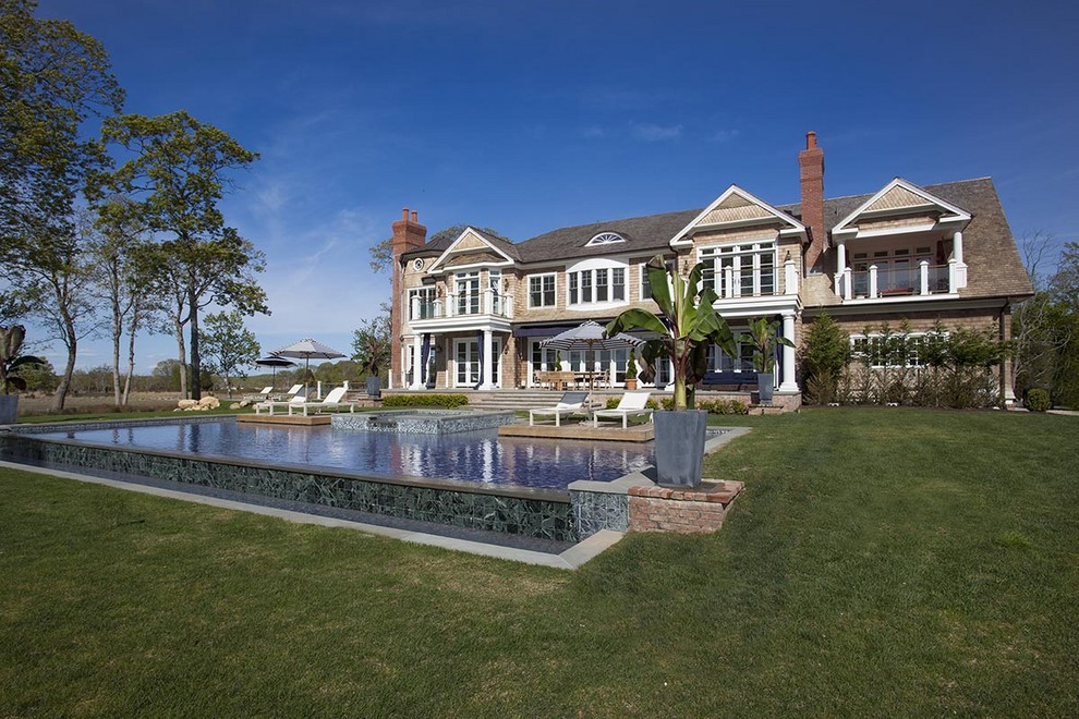 16 9 million dollar hamptons traditional estate see for Estate house