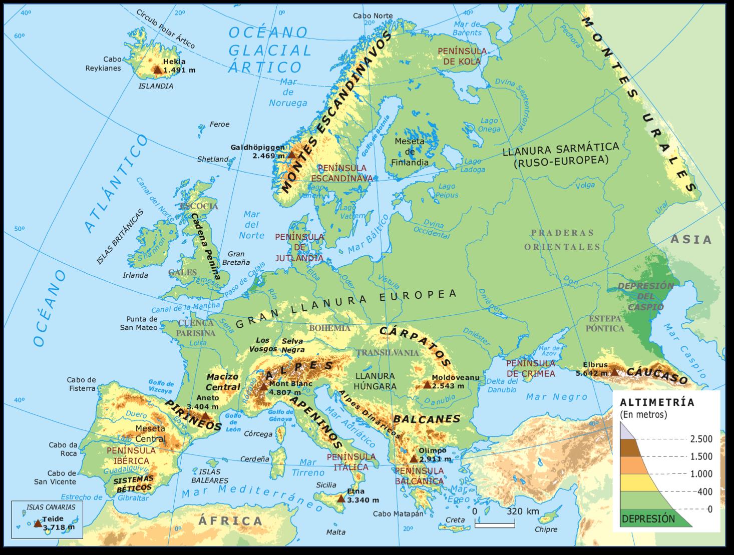 Cabos De Europa Mapa