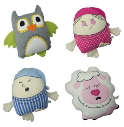 Almofadas Porta Pijama para a hora do sono