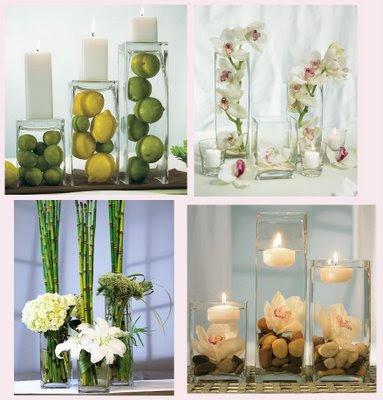 Dicas de Como decorar com vasos de vidro