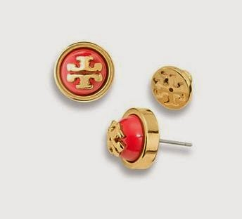 tory burch melodie stud earrings on sale private sale