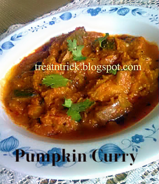 Pumpkin Curry Recipe @ treatntrick.blogspot.com