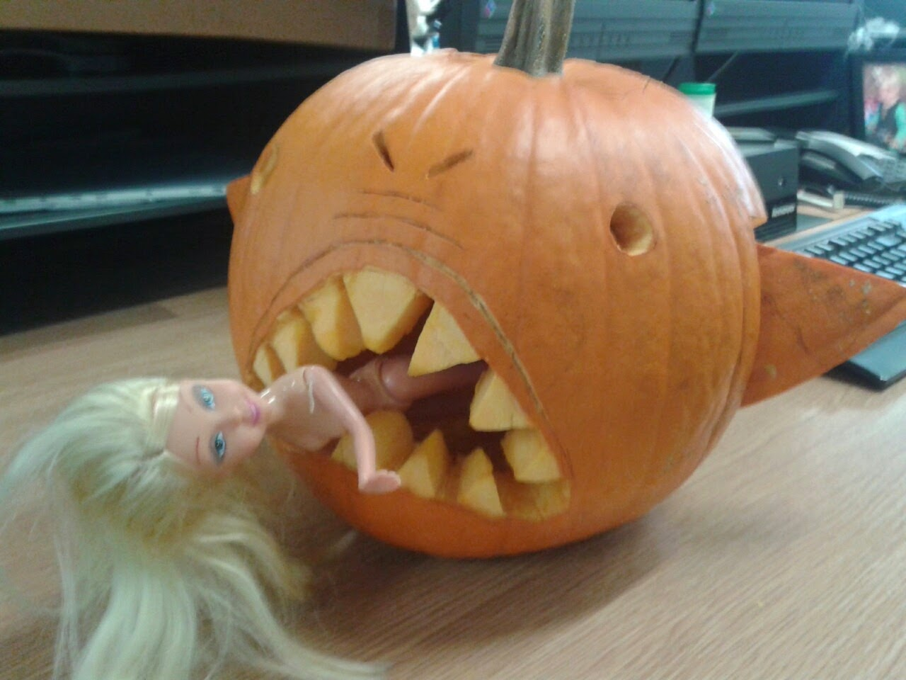 Ghost hunting theories how to make cannibal jack o 39 lanterns - Extraordinary accessories for halloween decoration with pumpkin eating another pumpkin carving ...