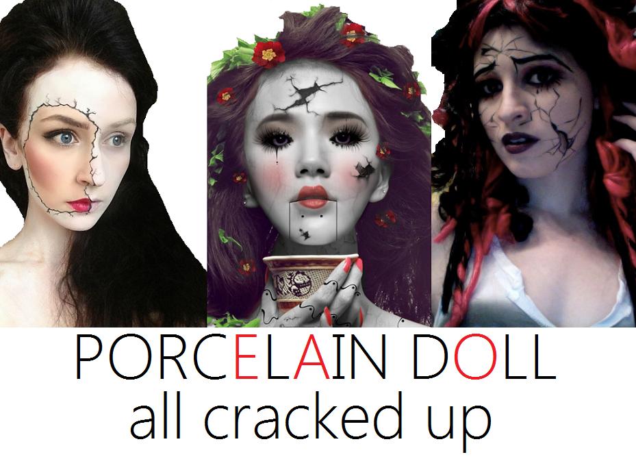 Cracked porcelain doll