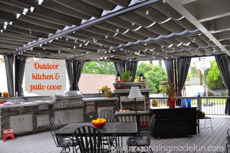 After: A gorgeous outdoor kitchen and patio :: OrganizingMadeFun.com