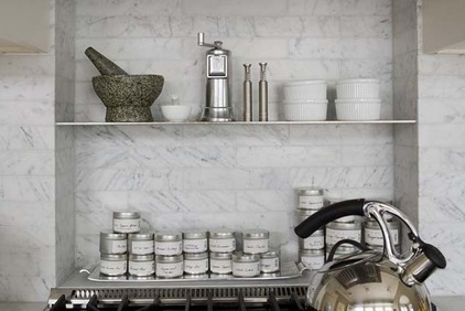 Carve Out A Spice Niche A Nook Behind Your Stove Is A Good Place To Stash Spices You Use Everyday A Stainless Shelf Installed Across A Stone Tile