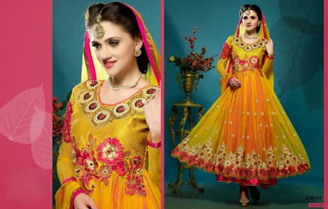 Indian Designer Anarkali Suit -Buy Online Shopping