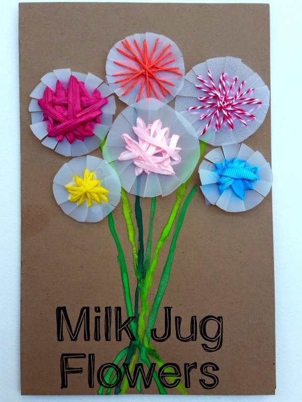 Choices for children milk jug flowers for Small flowers for crafts