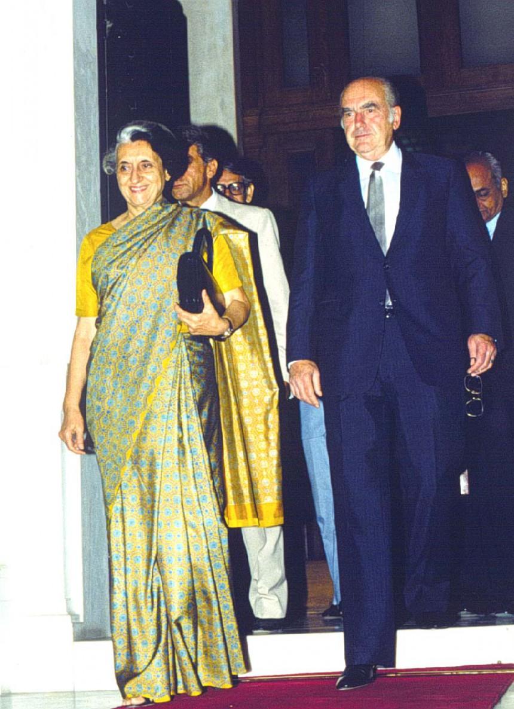 Ανδρεας Παπανδρέου με την Ι. Γκάντι
