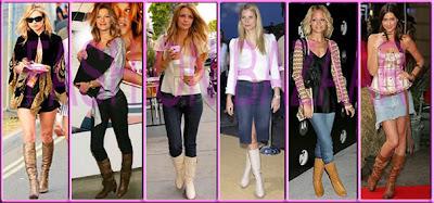 mulheres combinando vestidos com botas