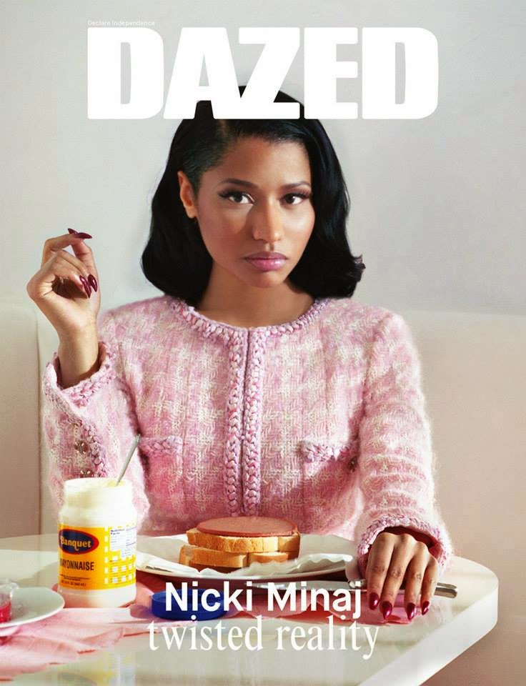 Nicki Minaj wears Chanel and Miu Miu for Dazed and Confused Magazine