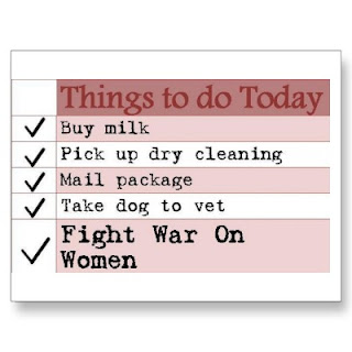 to do list, fight war on women